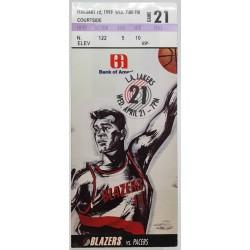 1999 rungtynių bilietas