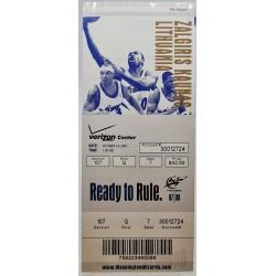 2007 Rungtynių bilietas