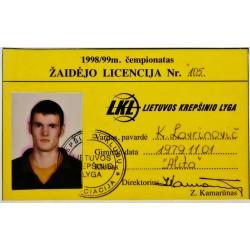 1998 LKL licencija