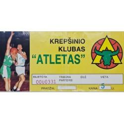 1997 Rungtynių bilietas