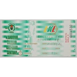 1998 Rungtynių bilietas