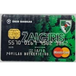 Banko kortelė Žalgiris