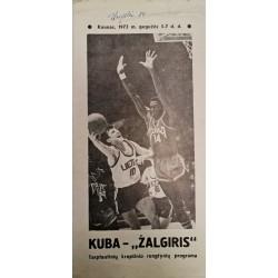 1972 Rungtynių programa