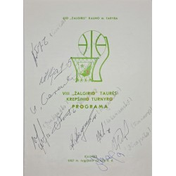 """1987 VIII """"Žalgirio"""" taurės..."""