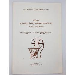 1985 Europos šalių taurių...
