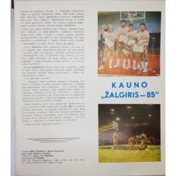 """1985 Kauno """"Žalgiris"""" - 85"""
