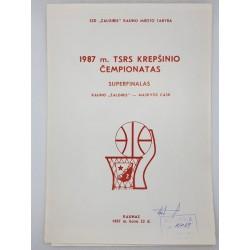 1987 TSRS krepšinio...
