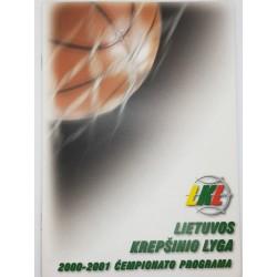2000-2001 LKL čempionato...