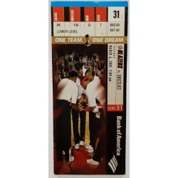 2000 - 2001 Game ticket