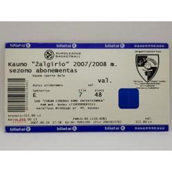 2007-08 Žalgirio  sezono...