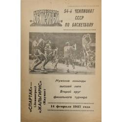 1987 TSRS vyrų krepšinio 54...